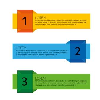 多色デザインのステップインフォグラフィック