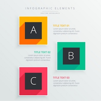 Infographics elements of colored squares