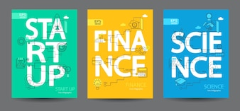 Infographics of start up, science, finance.