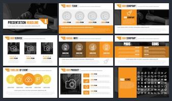 インフォグラフィックスプレゼンテーションテンプレート背景バナー、ポスター、