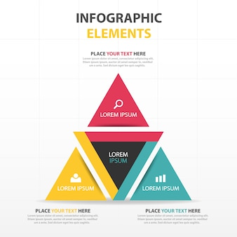 Infographics, triangular shapes