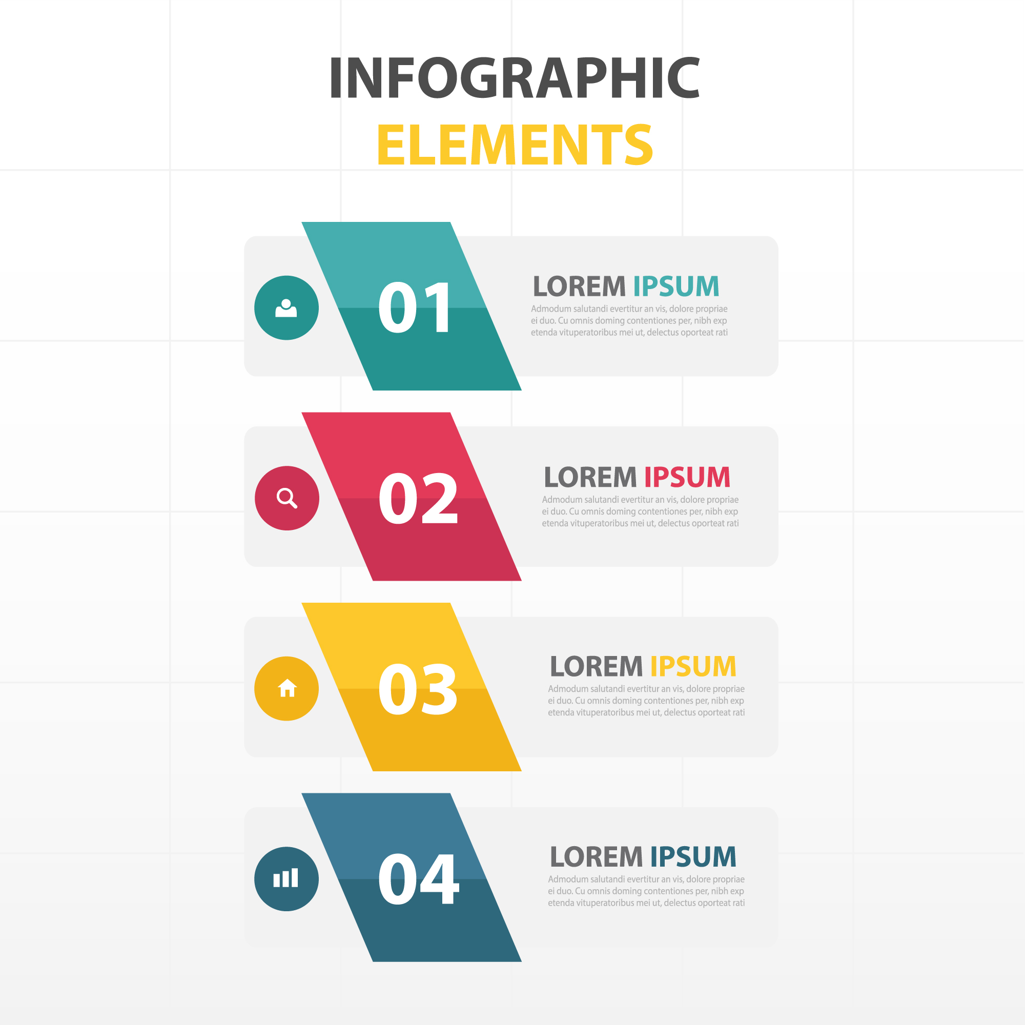 Infographics with 4 banners