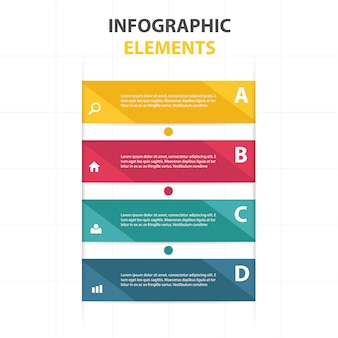 Infographics with 4 color banners