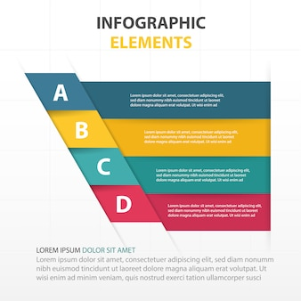 Infographics with 4 colorful banners