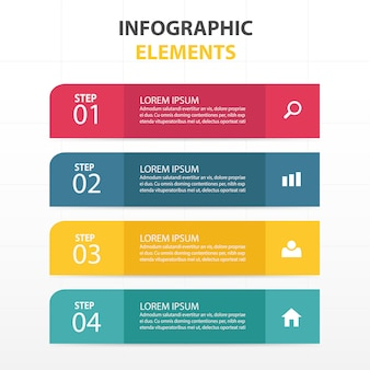 Infographics with 4 colors
