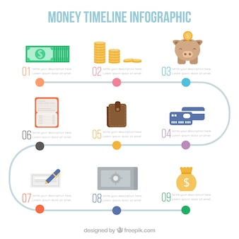 Infographics with business elements