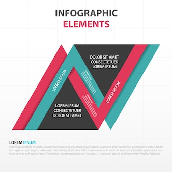 Infographics with colored geometric lines