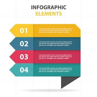 Infographics with four geometric banners