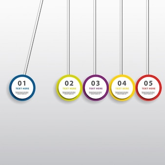 Infographics with hanging circles