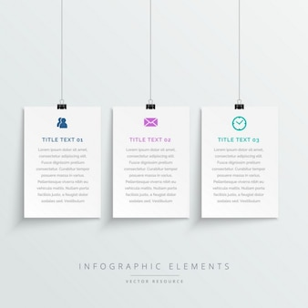 Infographics with hanging options