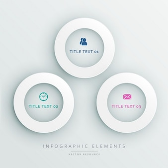 Infography with 3d circular options