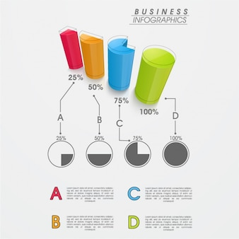 Infography with perspective