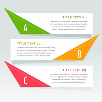Infography with three geometric options