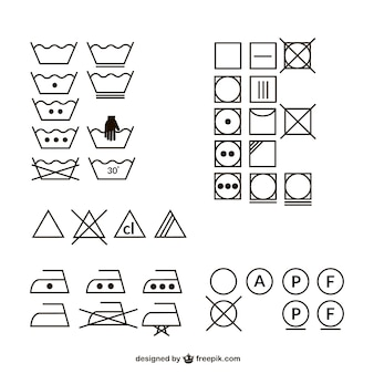 Information icons for washing your clothes