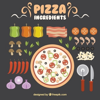 Ingredients to make a delicious pizza