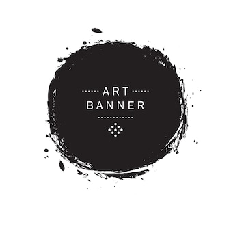 Ink blot and drops banner vector illustration