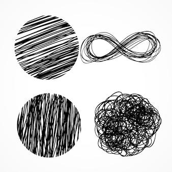 Ink pen scribbles