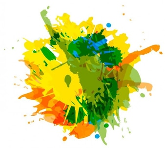 Ink splash colorful abstract vector
