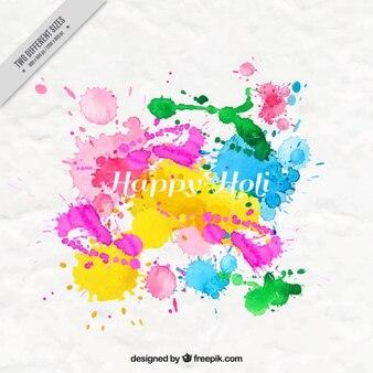 Ink splashes Holi background