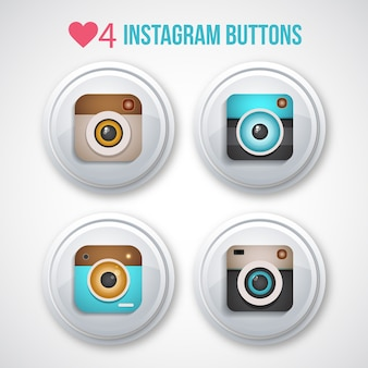 Instagram buttons pack