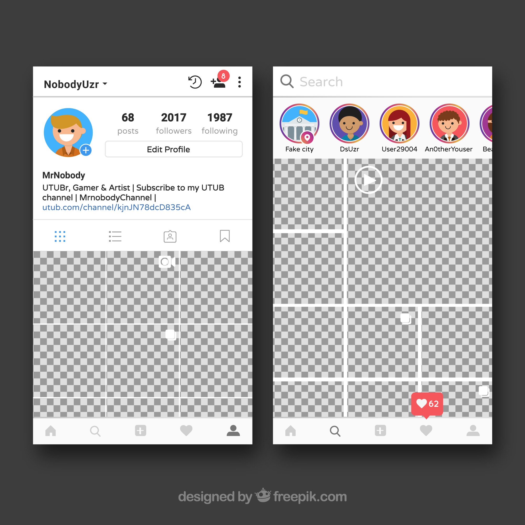 Instagram frame with profile