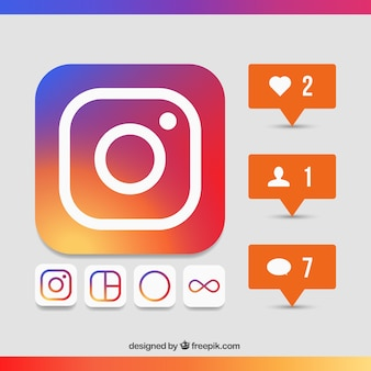 Instagram icon set