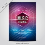 Interesting music party poster