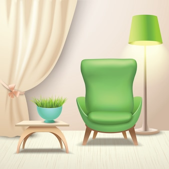 Interior design armchair