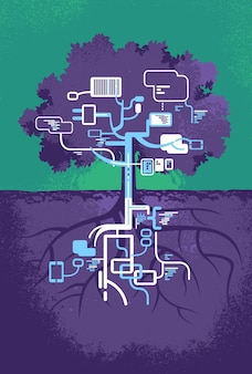 内部の木の木