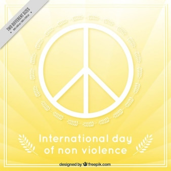 International day of non-violence with the symbol of peace