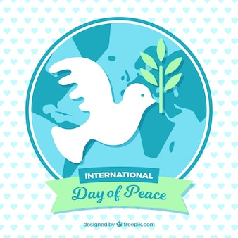 International day of peace, dove around the world