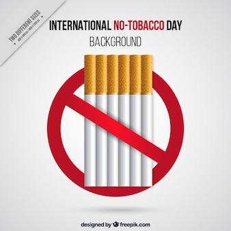 International no-tobacco day background