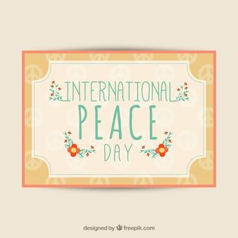 International peace day card