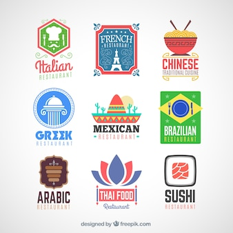 International restaurant logos