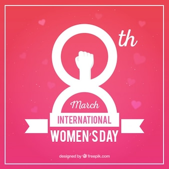 International women's day pink background