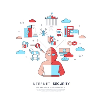 Internet security background