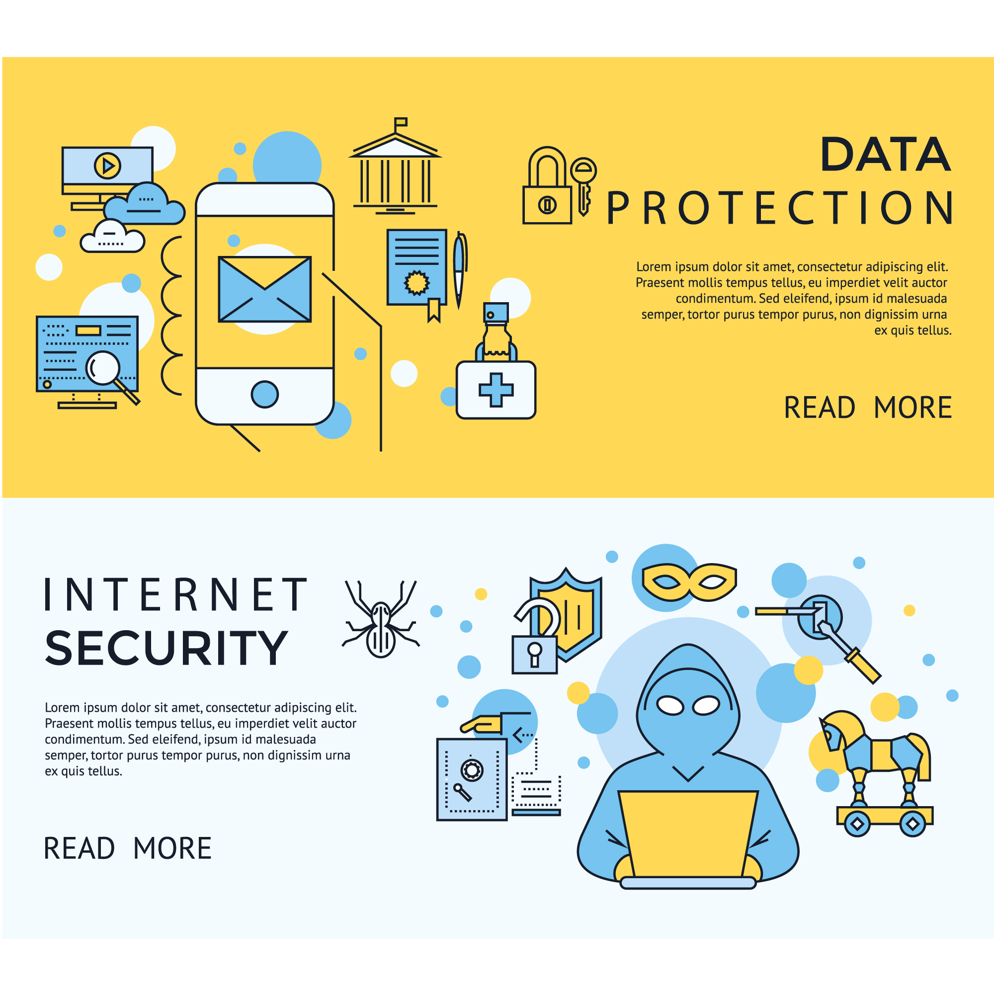 Internet security banners