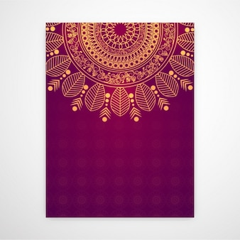 Invitation card with beautiful mandala