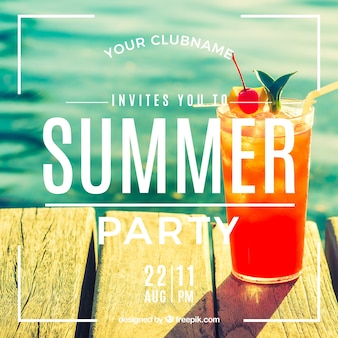 Invitation for a summer party