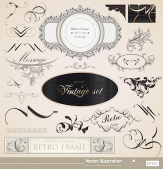 Invitation retro border certificate formal