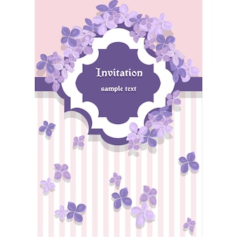 Invitation template design