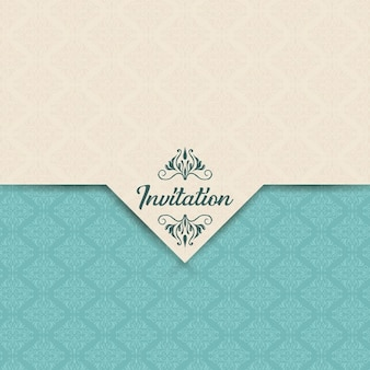 Invitation with a decorative pattern