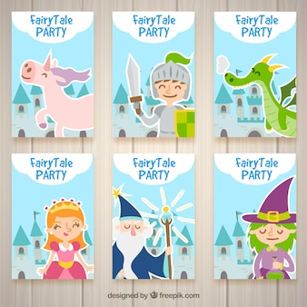 Invitations for a fantasy-style party