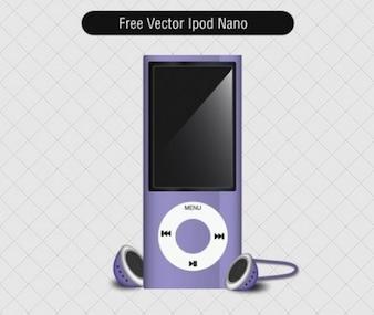 ipod nano violet with headphones