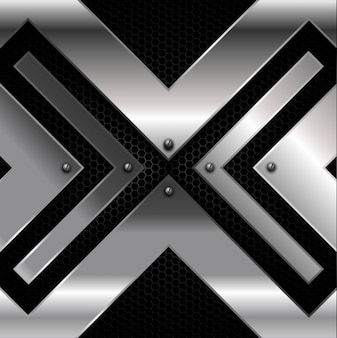 Iron Cross over Metallic Background