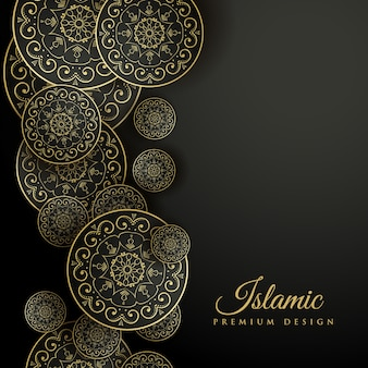 Islamic background with ornamental shapes