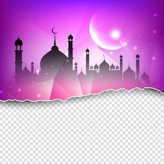 宗教的イスラムの背景デザイン
