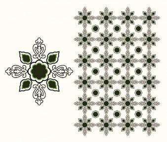 Islamic design element isolated white