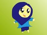 Islamic girl with burka