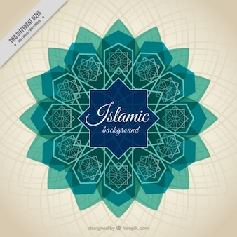 Islamic new year background of arabic tile